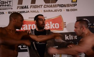 FFC 7 Weigh Ins: Poturak and Munoz Pushing and Shoving!
