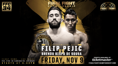 Explosive MMA Title Bout Headlines FFC 34 Nov. 9 at Fight Dome Las Vegas!