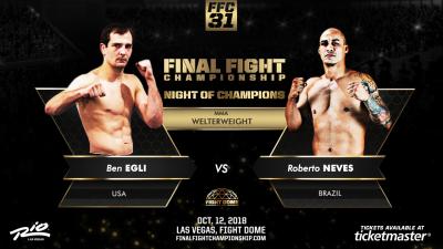 Egli Battles Neves for FFC MMA Welterweight Title Oct. 12