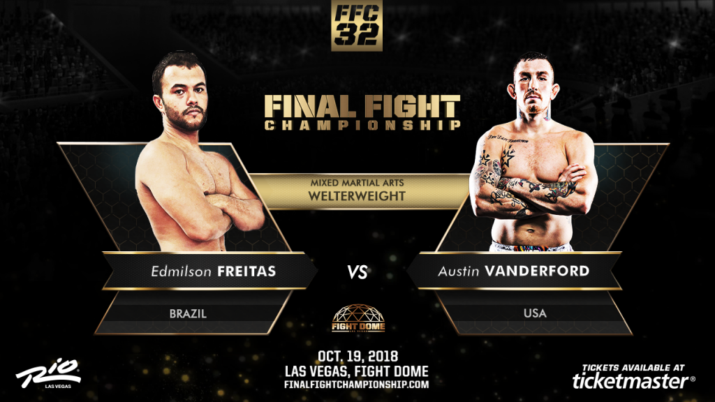 Undefeated Vanderford Battles Freitas Oct. 19
