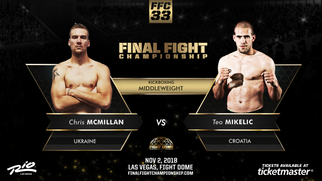 Kickboxing Stars Clash at FFC 33 Nov. 2 at Fight Dome Las Vegas