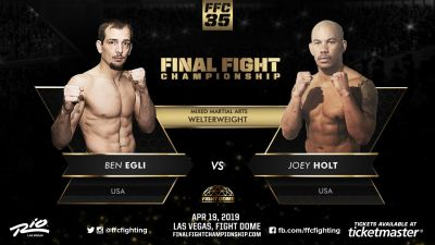 Ahead of his FFC 35 title bout Joey Holt promises to dominate from bell to bell