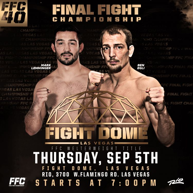 FFC 40: TWO TITLE FIGHTS TOP STACKED CARD AT THE FIGHT DOME!