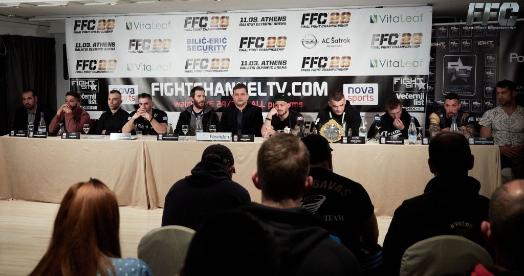 FFC 28 Pre-fight Press Conference – Petje: Last year was a mistake! Kakoubavas: When you make a mistake, you have to pay for it!