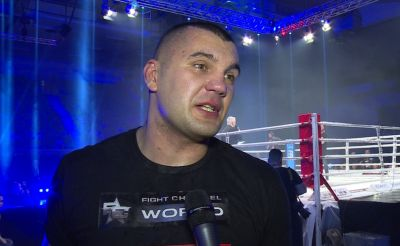 "FFC 29 – Mladen Brestovac post-fight interview: ""Tonight I had my bachelor night here in the ring"""