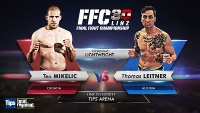 FFC 30 kickboxing: Di Marco injured, Teo Mikelić steps in to fight Leitner