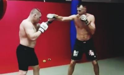 Darko Stošić getting ready for FFC 28 with boxer Stipe Drviš! (VIDEO)