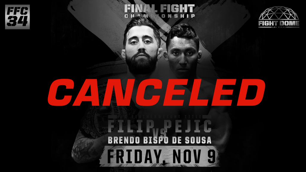 FFC 34 on Nov. 9 Has Been Canceled